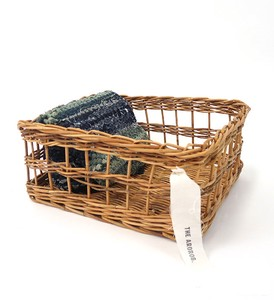 THE AROROG Square Basket Natural Antique