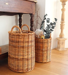THE AROROG Tall Basket Natural Antique