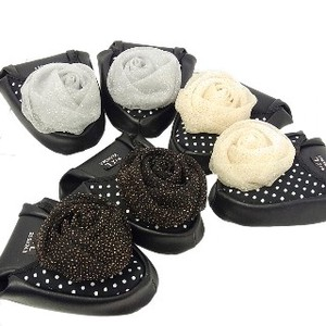 Glitter lame Rose Portable Slipper Ladies