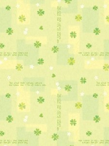 Wrapper Happy Clover Half Sheet Whole Sheet
