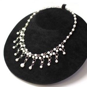 Brilliant Pearl Choker Pearl Necklace