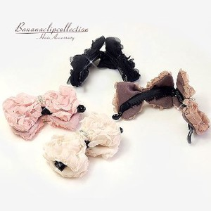 Fluffy Accessory Ribbon Banana Clip