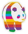 ステッカーNo,1022 RAINBOW PANDA US1022