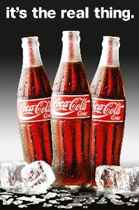 ■ポスター■610X915mm★ Coca-Cola - real thing