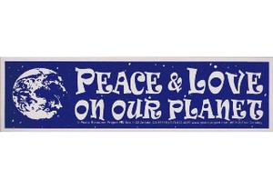 PEACE&LOVE ON OUR PLANET 輸入アメリカン雑貨メッセージ