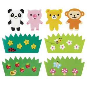 Bento (Lunch Box) Product Hide And Seek Animal rose Set