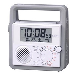 SEIKO Disaster Prevention Clock Radio Waves Clock/Watch