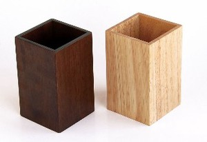 Wooden Cutlery Stand Brown Natural