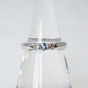 Silver 925 Natural stone Ring Aquamarine