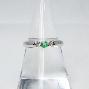 Silver 925 Natural stone Ring Emerald