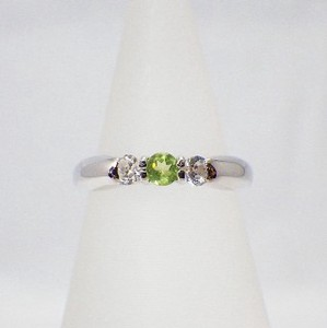 Silver 925 Natural stone Ring Peridot