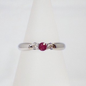 Silver 925 Natural stone Ring Ruby