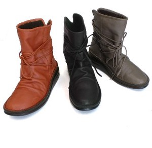 Genuine Leather Lace Short Boots