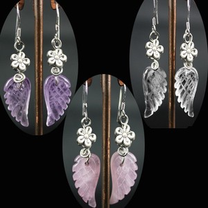 Natural stone Angel A Wish Realized Angel Pierced Earring