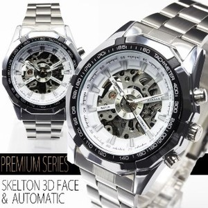 Big Face Specification Skeleton Automatic Wrist Watch