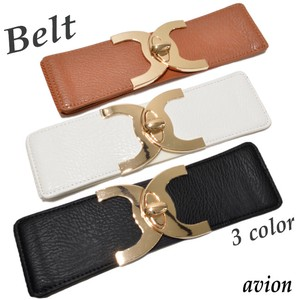 Popular Gold Design Buckle Elastic Belt Belt