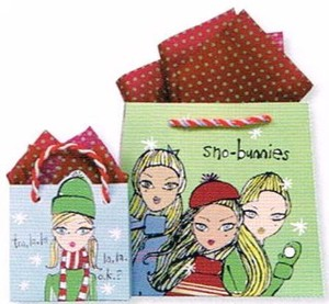 THE GIFT WRAP COMPANY ペーパーギフトバッグ <クリスマス×GIRL>