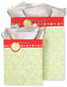 THE GIFT WRAP COMPANY ペーパーギフトバッグ <クリスマス×ステッキ>