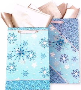 THE GIFT WRAP COMPANY ペーパーギフトバッグ <結晶×雪>