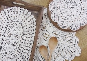 Lace Coaster Pot Mat Place Mat Natural
