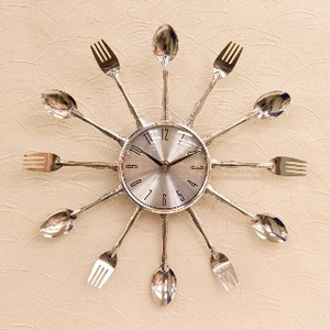 Design Wall Clock Spoon Fork