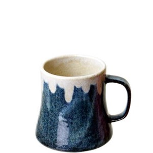 Pottery Blue Mt. FUJI Mug