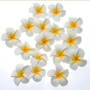 Frangipani Sponge Artificial Flower White