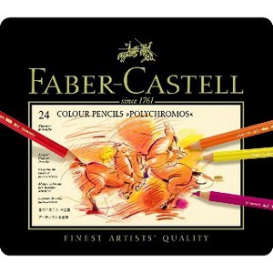 【FABER-CASTELL】ポリクロモス色鉛筆セット24色缶入 9212