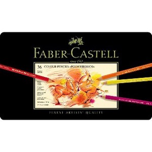 【FABER-CASTELL】ポリクロモス色鉛筆セット36色缶入 9213
