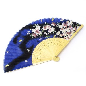 Fashion Accessory Japanese Style Silk Folding Fan Snowstorm