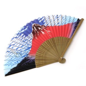 Fashion Accessory Japanese Style Silk Folding Fan Fuji