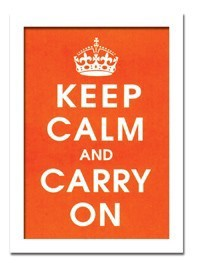 インテリアアート/Vintage Reproduction/Keep Calm (orange)