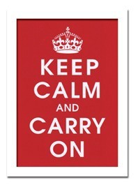 インテリアアート/Vintage Reproduction/Keep Calm (Red)