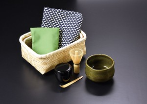 Tea Utensils Powdered Tea Set Carry Bamboo Attached Case Outdoor Good