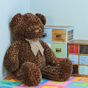 Soft Toy Sitting bear Brown