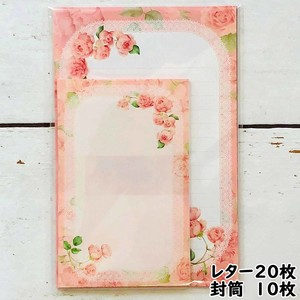 Made in Japan Lace Rose rose Writing Papers & Envelope