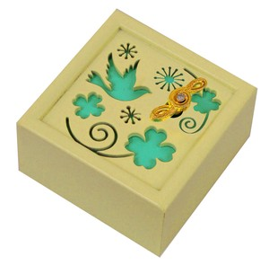 Wooden Music Box Clover