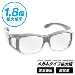 Eyeglass Type Magnifying Glass Unisex