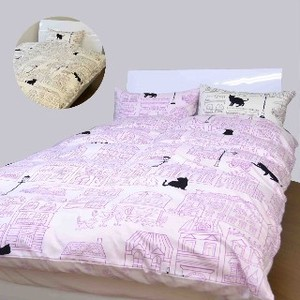 Cat Bedspread Cover Mattress Cover Pillow Case Box Sheet