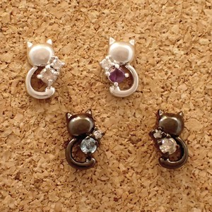 Silver 925 Birthstone Lovely Pierced Earring