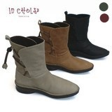 New Color Genuine Leather soft Casual Mid-calf Boots