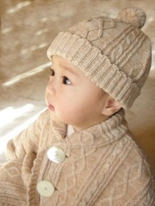 Organic Knitted Baby Hats & Cap Baby Kids