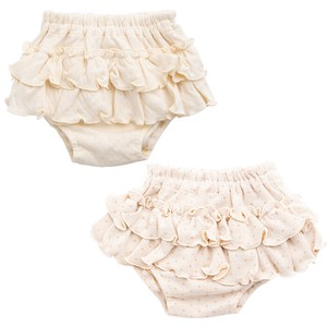 Organic Cut And Sewn Frill Ribbon Bloomers
