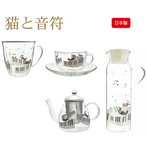 Cat Musical Note Heat-Resistant Glass Plates & Utensil