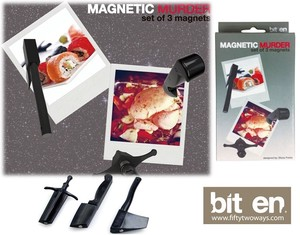 【 BITTEN】 MAGNETIC MURDER knive and ax shaped magnet