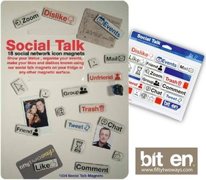 【 BITTEN】 SOCIAL TALK icon shaped magnets