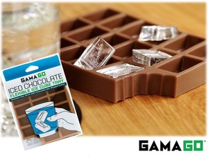 【 GAMAGO】 ICED CHOCOLATE ICE CUBE TRAY silicone ice tray