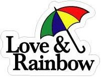LS-021/LOVE&RAINBOW/Loveステッカー