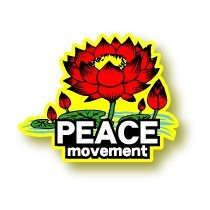 FL-001/PEACE movement/FLOWERステッカー