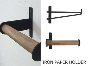 Big Iron Paper Holder Wooden